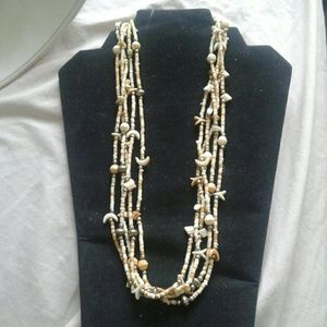 Jewelry - Multi strand bead shell fetish tribal necklace